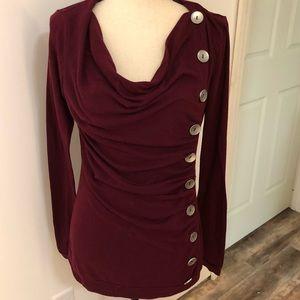 Patty Boutik ruched button accent blouse Size M
